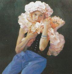 Sophie MORISSE, La Guirlande, 100 x 100 cm, huile sur toile