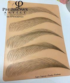 Practice Eyebrows Microblading artist phibrows Tananyaphat puncharatsopha