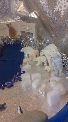 Winter wonderland tuff spot idea via Jane Page ≈≈