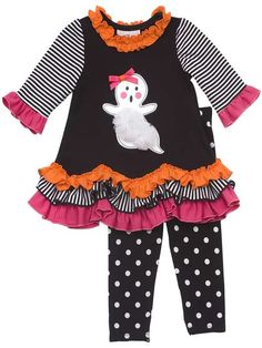 6X Halloween BOO Ghost Top /& Leggings Set NWT $48 RARE EDITIONS Little Girls/' 6