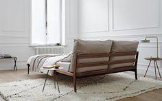 SOVA Bed — more Master Bedroom Interior, Bedroom Furniture, Furniture Design, Cozy Bedroom, Slow Design, Minimalist Bed, Interior Architecture, Interior Design, Headboard Designs
