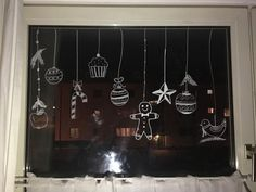 Hope you can utilize them to decorate your glass walls. Little children like those patterns most. Liquid Chalk Markers, Chalk Pens, Chalk Art, Christmas Window Display, Christmas Window Decorations, Christmas Art, Acrylic Painting For Kids, Classic Window, Window Art