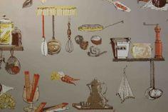 Specializes in original authentic vintage wallpaper, mid century wallpaper and retro wallpaper from the early to Vintage Style Wallpaper, Retro Wallpaper, Vintage Wallpapers, Orange, Yellow, 1930s, Mid Century, Vintage Fashion, Beige