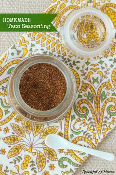 Homemade Taco Seasoning - a recipe that you need to have! Use it in tacos, enchilada soup and more!