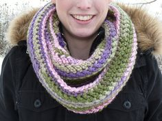 FREE SHIPPING  MultiColored Crocheted Infinity by ACozyCrochet, $32.00