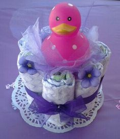 Baby shower centerpiece  (maybe with something other than a duck)