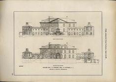 Woodside | Syoset, NY. Delano & Aldrich's architectural plans for the home of Mr. & Mrs. James Abercrombie Burden, Jr. (Florence Adele Sloane)