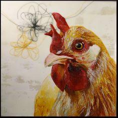 Wilma - Encaustic painting 2009