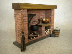 Hey, I found this really awesome Etsy listing at https://www.etsy.com/listing/193820575/dollhouse-colonial-fireplace