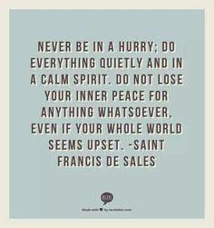 I'm working very hard on this principle. #Remain calm #PeaceBeStill