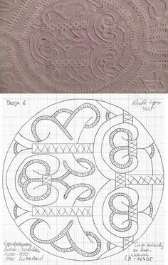 1200-1250 tablecloth East Switzerland, whitework embroidery. Landesmuseum Zürich. Design 6