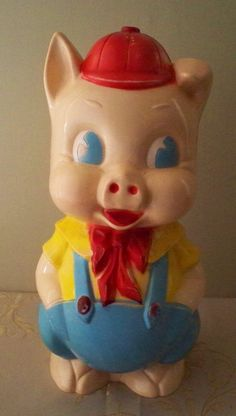 Vintage Piggy Bank From Reliable Rare Plastic Childrens