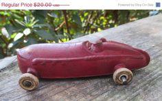 SUPER SALE Sun Rubber Co Race Car 1930's Vintage by HobbitHouse