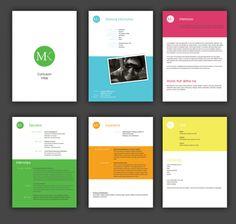 coordination of color in portfolio layout. Landscape architecture cut sheet