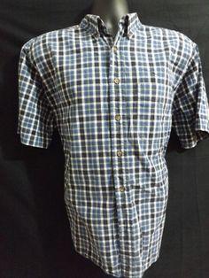 Eddie Bauer Men's Button Front Size Medium Short Sleeve #EddieBauer #ButtonFront