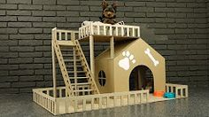 how to make amazing puppy dog house from cardboard - YouTube
