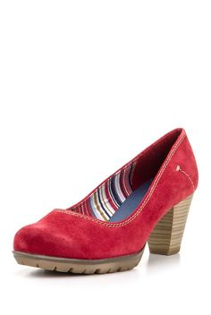 Pantofi,+roşii Women's Pumps, Wedges, Red, How To Wear, Shoes, Fashion, Moda, Zapatos, Shoes Outlet