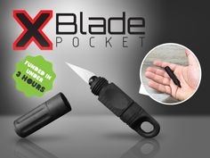 A quality crafted EDC tool designed for your keyring which holds a removable blade and fits comfortably in your pocket.