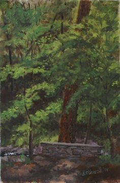 Botanical Garden, UNC Asheville, 2007, $75-unframed Asheville, Botanical Gardens, Canvas, Painting, Art, Tela, Art Background, Painting Art, Kunst