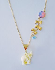Breeze On By Elephant and Balloon Necklace — Eclectic Eccentricity Vintage Jewellery