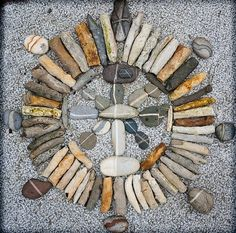 Medicine Wheel  Very cool rock & stick nature mandala.