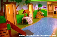 Preschool Church Woodland Theme. www.ImaginationAtmospheres.com