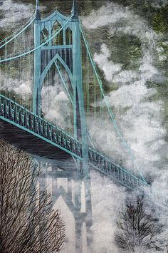 b9c7268baf1 St. Johns Bridge Canvas Print   Canvas Art by Dee Browning