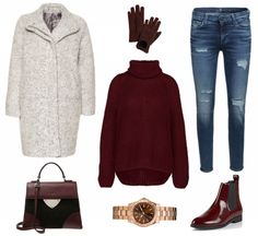 #Winteroutfit Red ♥ #outfit #Damenoutfit #outfitdestages #dresslove