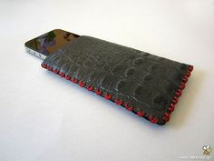 Exotic skin leather iPhone case by Beegeo on Etsy