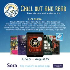 This year's 10-week program, running June 6 – August 15, is our longest ever. We're also offering more titles than ever before. Thirty free and simultaneous use juvenile and young adult ebooks (and select audiobook and Read-Along options) will be available to students in participating schools. These titles will be prominently displayed in Sora so it's easy for students to find their next book and chill out and read.
