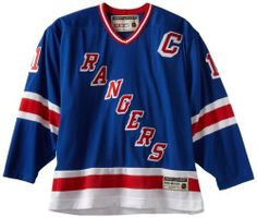 NHL New York Rangers Mark Messier #11 Heroes Of Hockey Jersey, Medium , Blue/red/white by Reebok. $101.75. You'll honor one of the game's all-time greats every time you wear this Heroes of Hockey Jersey from Reebok. Features embroidered team logo with applique twill on chest and, where applicable, on shoulders, plus layered twill player name, back and sleeve numbers. Detail includes double layered Air Knit shoulder construction for comfort and durability, customized jock tag with...