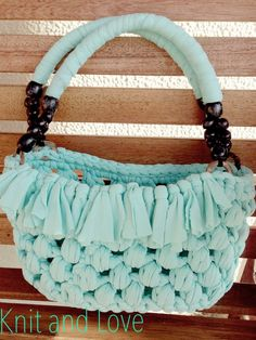Knit and Love : BOLSO TRAPILLO PUNTO PUFF