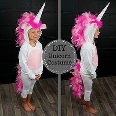 DIY #Unicorn Costume from @thefeatherplace #Halloween #Costume #DIY >> https://youtu.be/sAAxe15YTfw