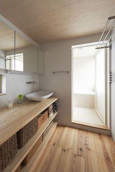 宝塚の家/完成写真より/洗面室のようすです。 BLOG デザイン住宅.狭小住宅|大阪.兵庫.京都|建築家 Coo Planning