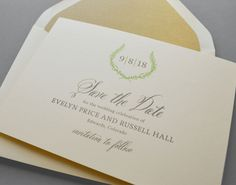 Kleinfeld Paper || Rustic Laurel Save-the-Date