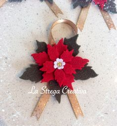 Decorazioni natalizie Felt Christmas Ornaments, Christmas Sweaters, Christmas Wreaths, Christmas Decorations, Christmas Sewing, Christmas Wrapping, Christmas Time, Hobbies And Crafts, Diy And Crafts