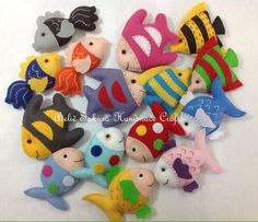 62 new Ideas for craft fabric quiet books Sewing Crafts, Sewing Projects, Craft Projects, Projects To Try, Sea Crafts, Diy And Crafts, Crafts For Kids, Felt Fish, Rabbit Crafts