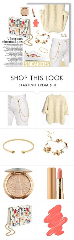 """Outfit #193"" by emydeishly ❤ liked on Polyvore featuring Pierre Balmain, Gucci, Twigs & Honey, Axiology, Miss Selfridge and Obsessive Compulsive Cosmetics"