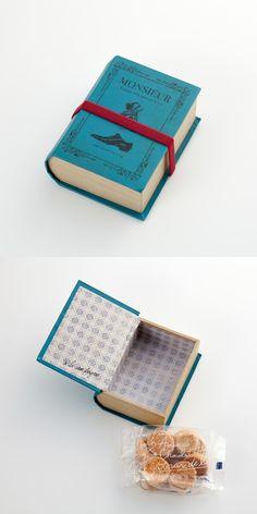 ココタルト「リブール ナチュール」Not sure if this is an original package design for a product or a one-of-a-kind thing...love the idea.