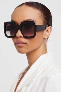 77FD Vintage Retro Oversized Square Large Frame Sunglasses Men/'s Women/'s Eyeglas