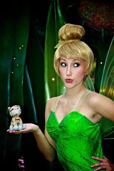 Hong Kong Disneyland, Tinker Bell with Pusang Gala (The Traveling Cat).