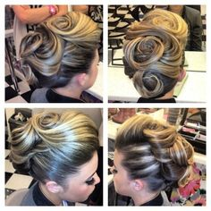 Nice large swirls for short hair updo
