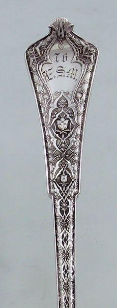 """Tiffany """"Persian"""" pattern, c1872 (Britannia Silver)"""