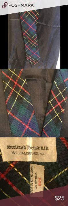 Vintage Scottish Wool Tie Necktie Vintage Brodie, wool Necktie by Scotland House Ltd, Williamsburg, Made in Scotland Vintage Accessories Ties