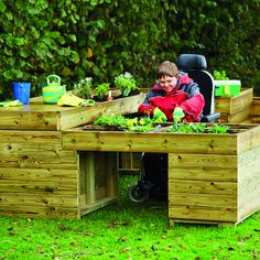 Wheelchair Accessible L Shaped Gardening Station