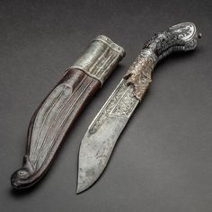 Piha-Kaetta Dagger Dated: century Place of Origin: Sri Lanka Medium: steel, silver, copper, black coral, wood Measurements: long . Swords And Daggers, Knives And Swords, Neck Bones, Steampunk Weapons, Dagger Knife, Art And Craft Design, Arm Armor, Suit Of Armor, Fantasy Weapons