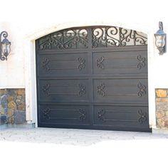 Custom Garage Doors, Garage Door Decor, Garage Door Makeover, Garage Door Design, Custom Garages, Door Gate Design, House Gate Design, Modern Spanish Decor, Mediterranean Homes Exterior