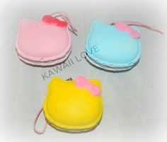 Kawaii Macaroon Squishy With Bow Homemade Squishies, Kawaii, Macaroons, Cute Pictures, Sculpting, Hello Kitty, Bedding, Projects To Try, Pasta