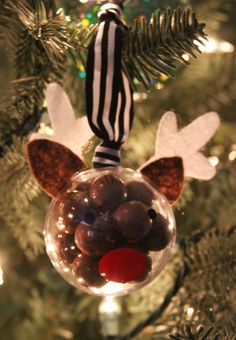 5 Minute Rudolph Ornament