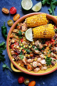 Mexican lime & chilli rice Slimming World syn free Mexican Chicken Mole, Lime Chicken, Chicken Rice, Mexican Bean Salad, Homemade Refried Beans, Slow Cooker Salsa, Cooking Whole Chicken, Mexican Food Recipes, Ethnic Recipes